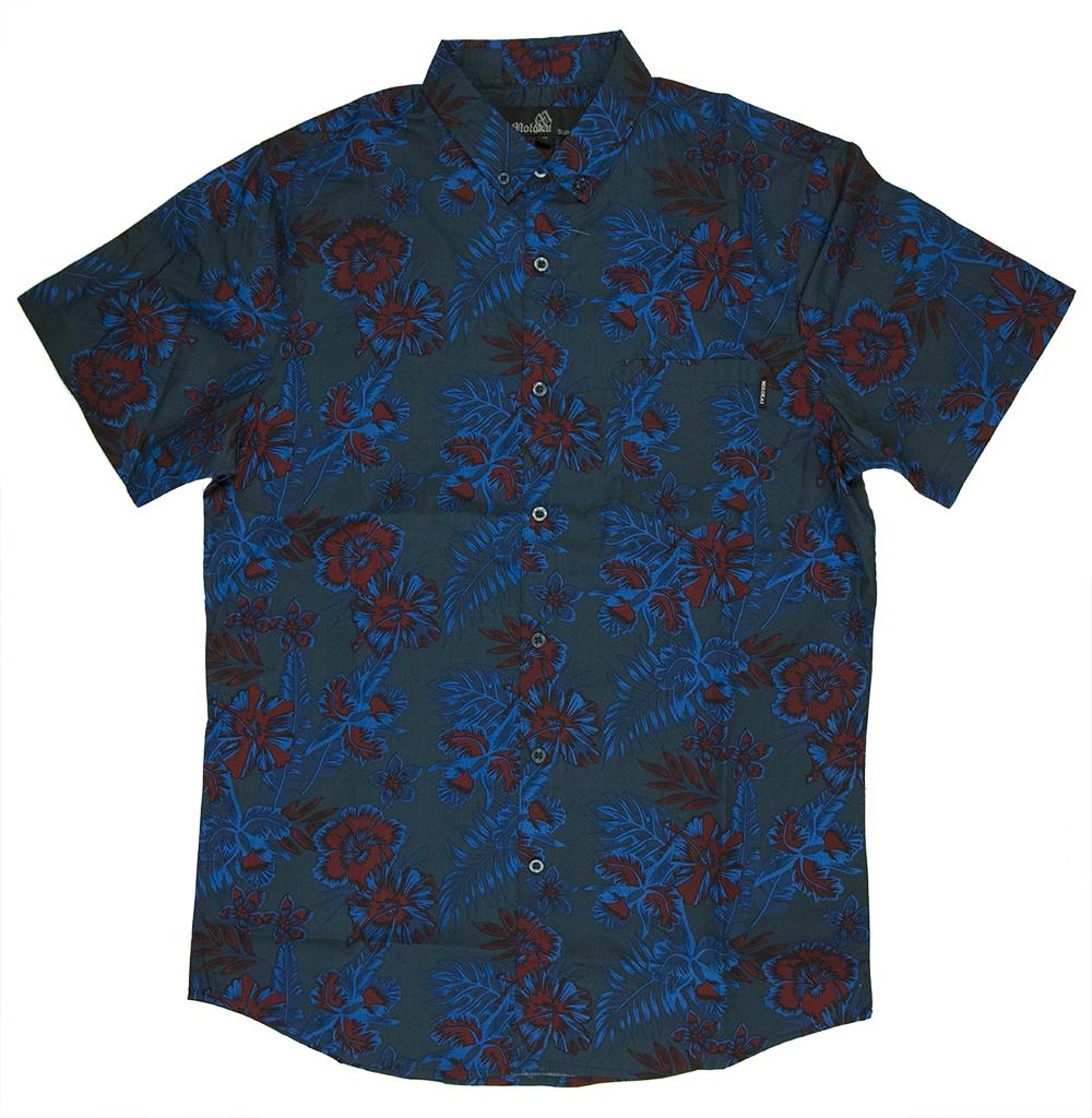Blue red floral 2