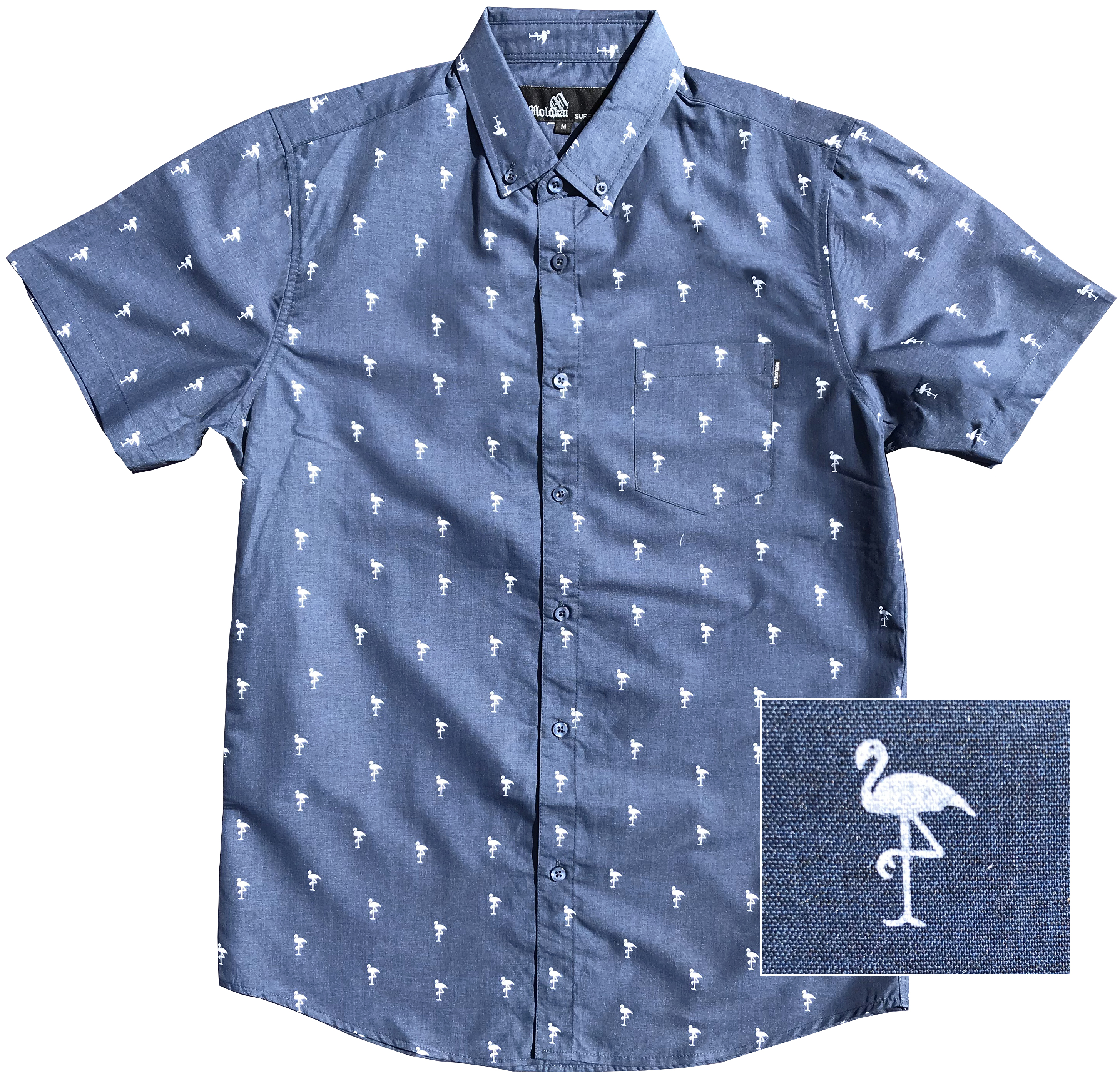 navy flamingo