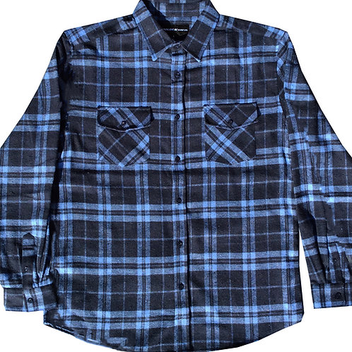 Navy and Light Blue Flannel