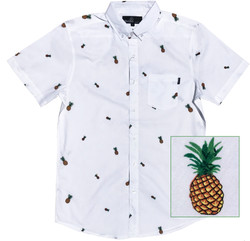 Pineapple White Close Up