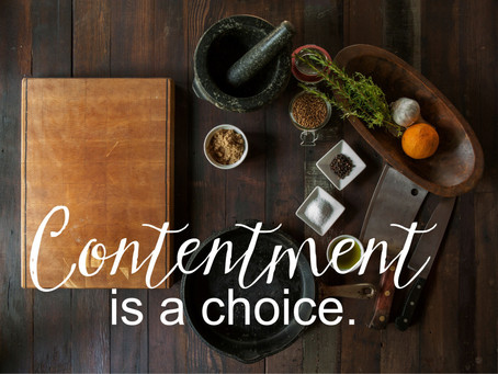Do you struggle with contentment while on a fixed budget/income?
