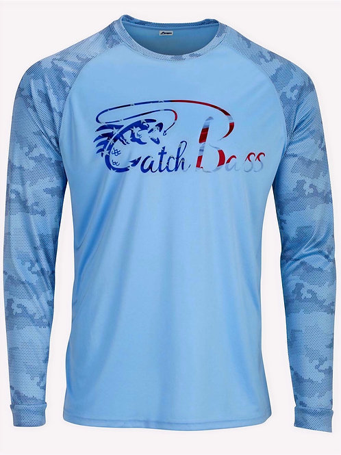 Carolina Blue Dri Fit Camo Sun Shirt L/S