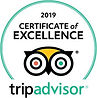 Trip Advisor, 2019 Certificate of Excellence