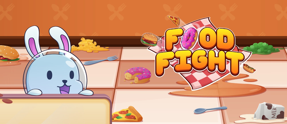 Graphic banner for the mobile game FOOD FIGHT.