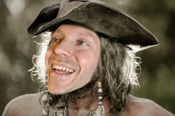 Martin Whiskin voice over artist dressed as a pirate