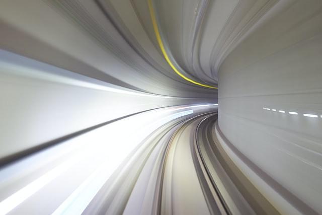 Light beams turning a corner