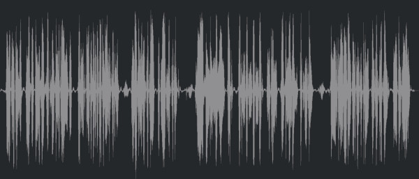 A normalized waveform in Cubase
