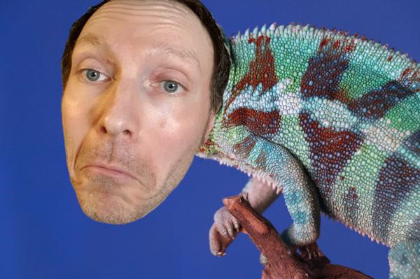Martin Whiskin voice actor as a chameleon