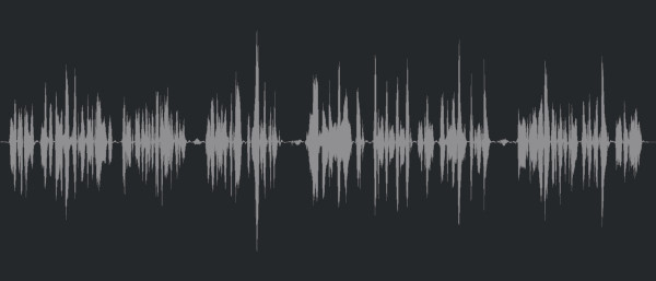 An uncompressed waveform in Cubase