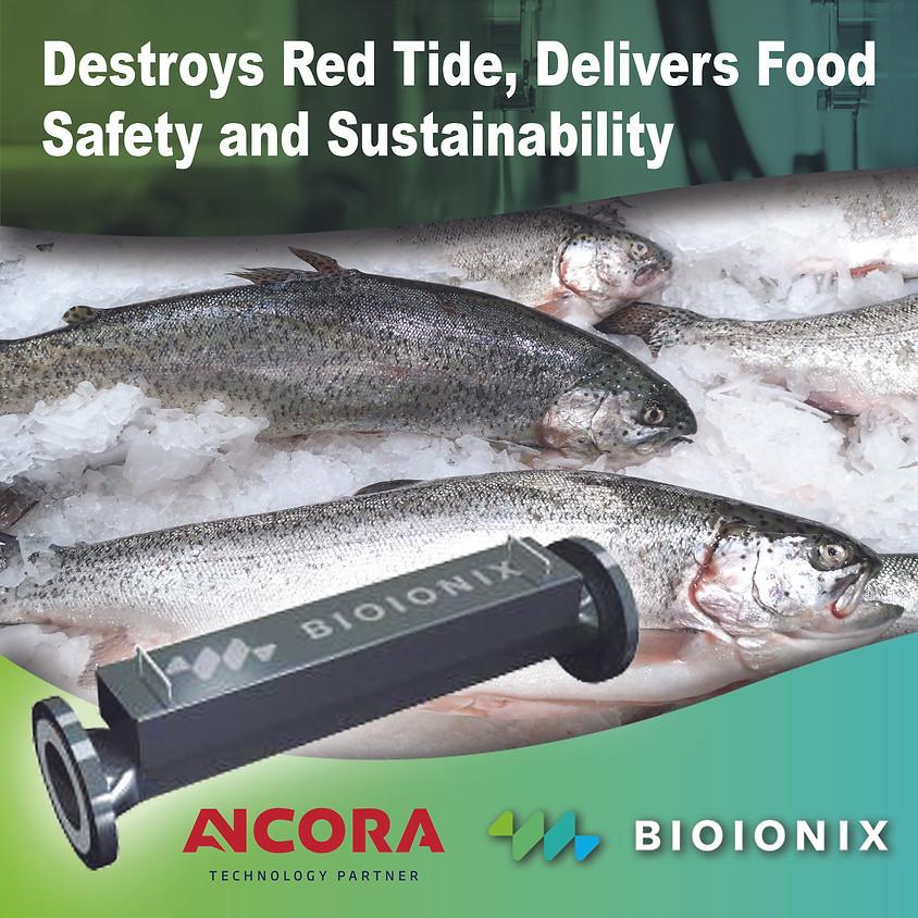 Bioionix aplicaciones para agua marina para mitigar marea roja y listeria
