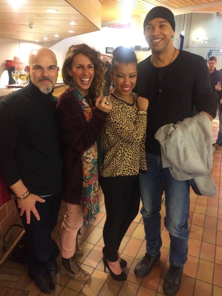 CLobo Group with Raquel Barreira (L)