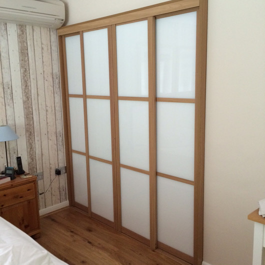 Walk-In Dressing Room with Sliding Doors