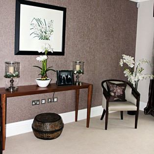 Side Table with Decor