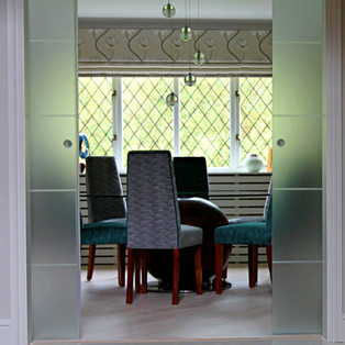 Pocket Doors Leading to Dining Room