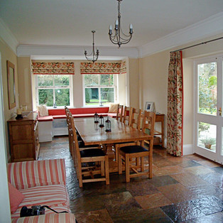 Dining Are with Bespoke Curtains & Blinds