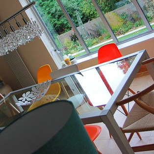 Dining Area with Bespoke Lighting