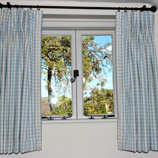 Pinch Pleat Curtains & Pole