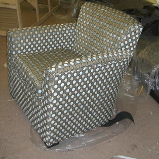 Reupholstered to Fit Room Design
