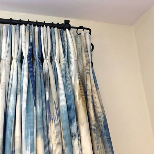 Pinch Pleat Curtains & Pole