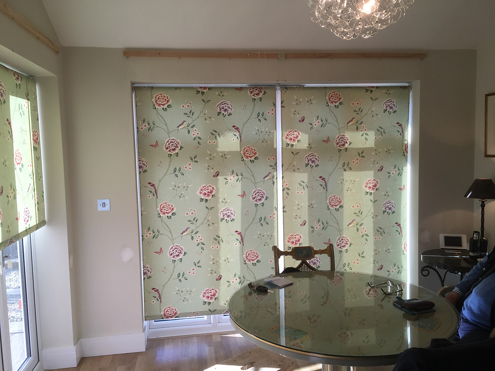 roller blinds bespoke fabric