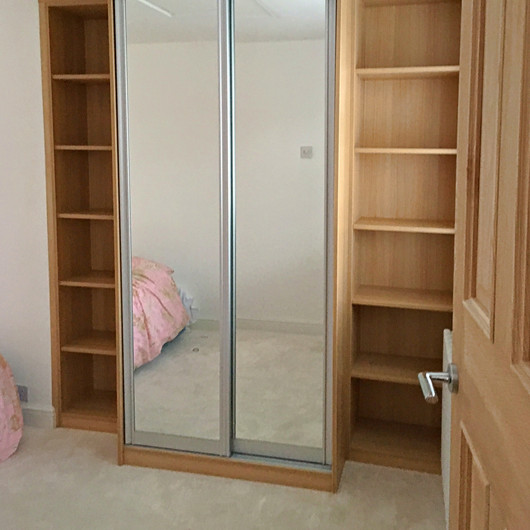 BEspoke Wardrobe with Sliding Mirror Doors