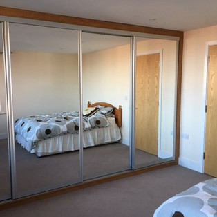 Large Sliding Wardrobe Mirror Doors
