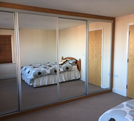 Large Sliding Mirror Doors