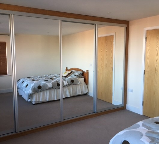Large Sliding Wardrobe Mirror Doors