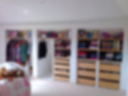 Bespoke open wardrobe, design, installed, spacious