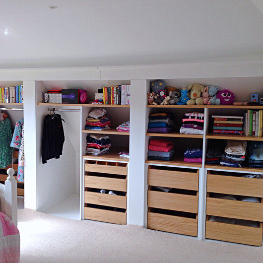 Open Children's Wardrobe with Bespoke Interior