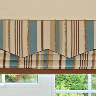 Designer Fabric Blinds & Pelmet