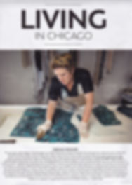 Gina Dorough Finishes a Hand-dyed Leather in Studio.
