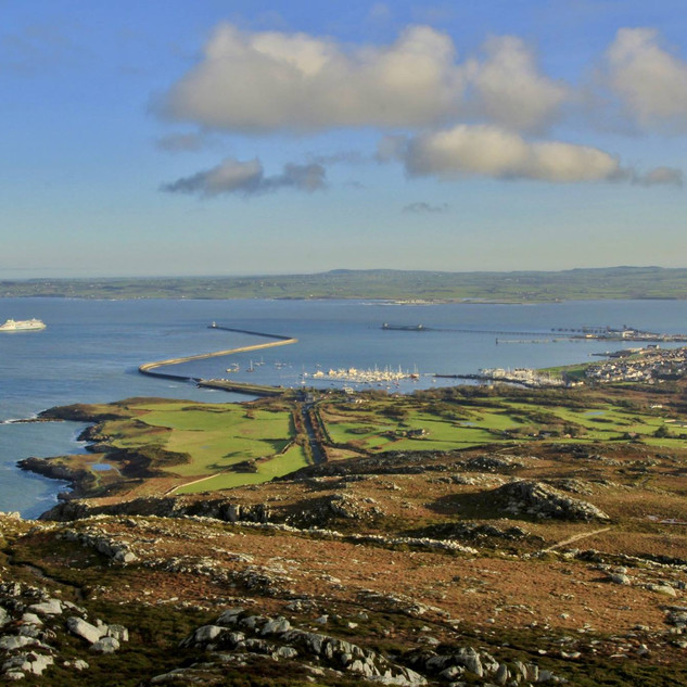 View of the Marina and harbour from Holyhead mountain