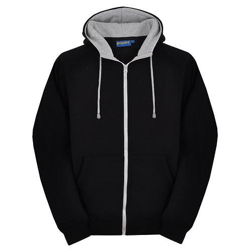 Bespoke Full Zip Black/Grey Hoodie