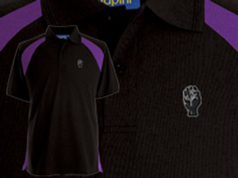 Discreet Fist Polo Black/Purple