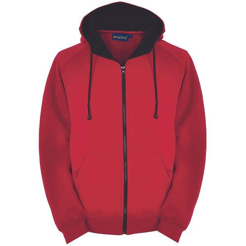 Bespoke Full Zip Red/Black Hoodie