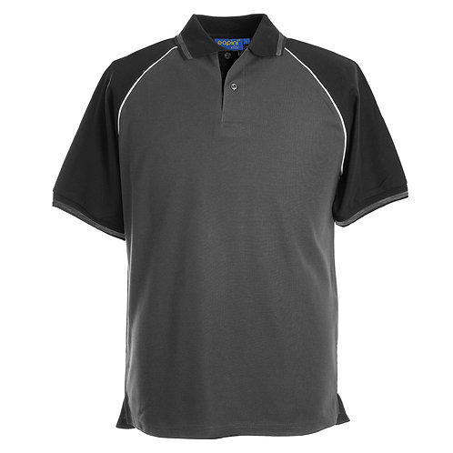 Elite Dark Grey-Black-White Polo Shirt