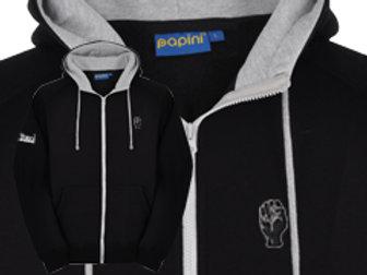 Discreet Fist Full Zip Hoodie Black/Grey