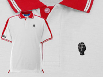 Discreet Fist Polo White/Red
