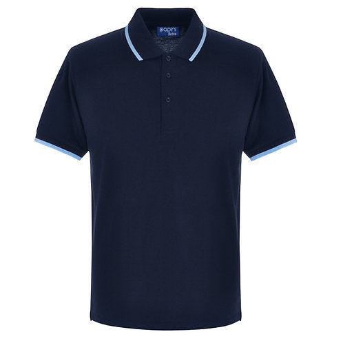 Elite Tipped Navy-Sky Polo Shirt