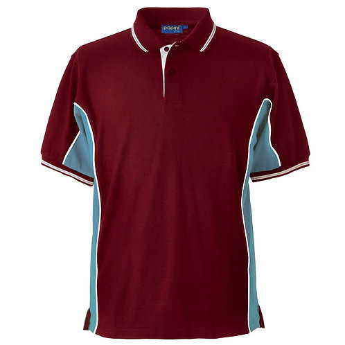 Elite Wine-Sky-White Polo Shirt
