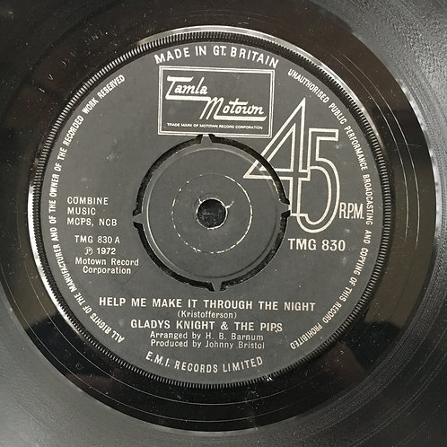 Gladys Knight & the Pips. 'Help Me Make It Through The Night'