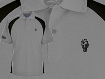 Discreet Fist Polo Silver Grey/Black