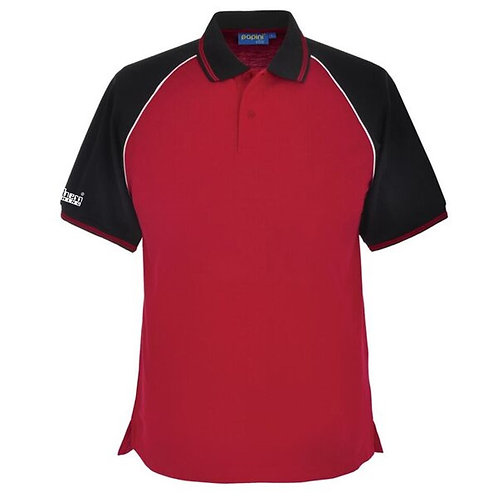 Bespoke Red Black Polo