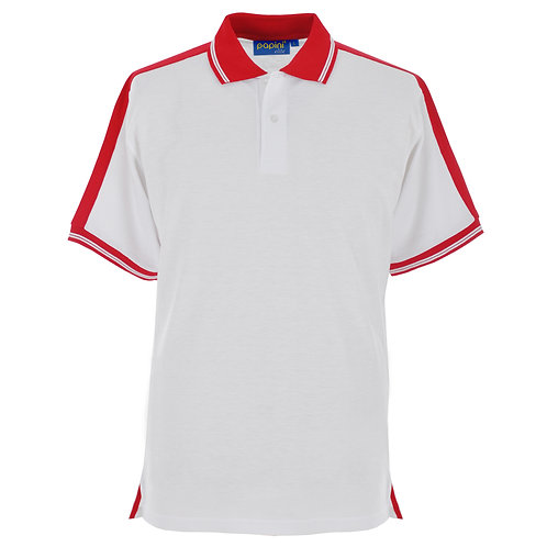 Elite White-Red Polo Shirt