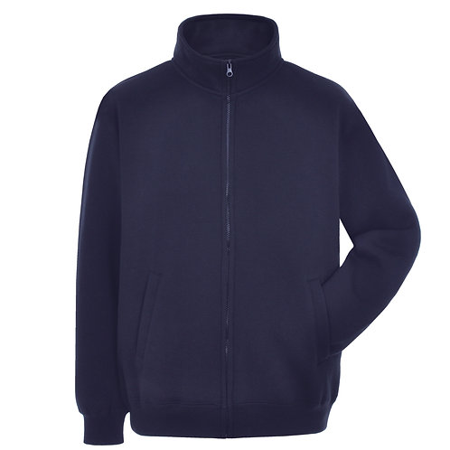 Bespoke Navy Full Zip Embroided Sweat