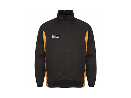 Teamwear League Rain Full Zip Jacket Black/Amber