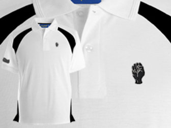 Discreet Fist Polo White/Black