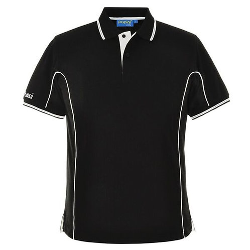 Bespoke Black/White Pipe Polo