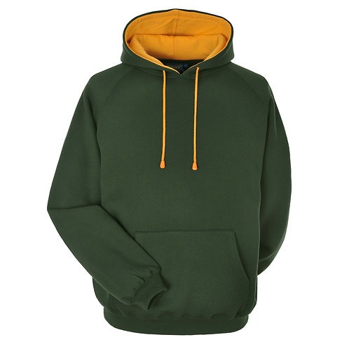 Bespoke Hoodie Bottle Green/Gold